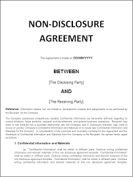 Non Disclosure Agreement Templates Samples Forms Template Lab ...
