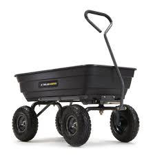 poly garden dump cart