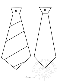 Small Picture Fathers day crafts Ties patterns Coloring Page