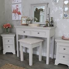 daventry range grey dressing table stool and mirror