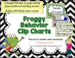 Frog Behavior Clip Chart Behavior Clip Chart With Frogs And Chevron