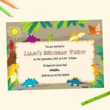 Childrens Disco Invitations Kids Birthday Party Invitations