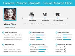 Resume Powerpoint Presentation Creative Resume Template Visual Resume Slide Templates