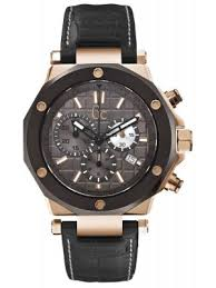 gc watches view the creative watch co range men s gc 3 rose gold chrono bevelled black bezel and date display window