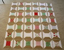 Christmas Spools Quilt Â« Moda Bake Shop & **To use less thread and time, I chain stitched all the center portions of  the block, then the spool portions. Adamdwight.com