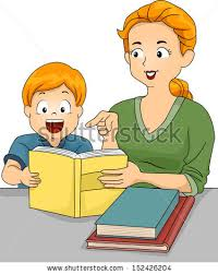 illustration caucasian mother helping her son stock vector  illustration of a caucasian mother helping her son his homework