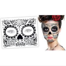 временные татуировки 2 шт день мертвых Dia De Los Muertos маска для лица сахарный череп