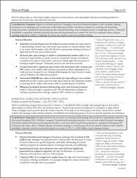 Strategy Consultant Resume Page 2 Fascinating Templates Management