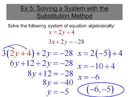 ex 5 solving a system with the substitution method