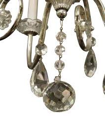 1950s french silver plated crystal chandelier for 2