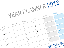planning calendar template 2018 large horizontal blank calendar template for 2018 year