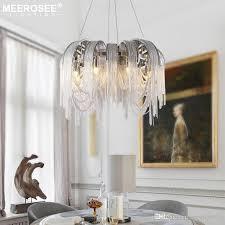 modern vintage aluminum chandelier lighting luxury aluminum chain italian tassel hanging light for home hotel restaurant lamp chandelier earrings outdoor