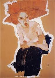 The scornful Woman (Gertrude Schiele) 1910 Painting By Egon Schiele