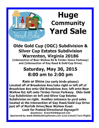 Huge Community Yard Sale Fauquier Now Calendar