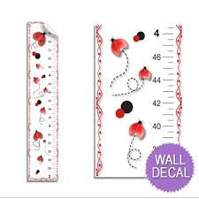 Kids Growth Chart Details About Growth Chart Ladybug Measure Height Bug Baby Nursery Girl Kid Wall Decal Sticker