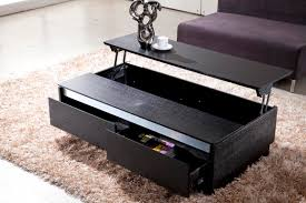 modern flip top wooden coffee table with two drawers in black color black coffee table ikea