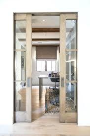 glass pocket doors wood and glass pocket office doors glass panel interior pocket doors