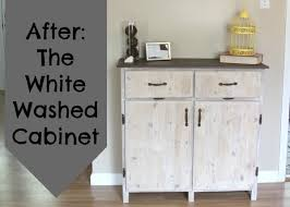 painting furniture whitePainting Furniture The White Washed Cabinet  Crafting a Green World