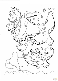Small Picture free Dragon Tales cartoon coloring pages printable for kids