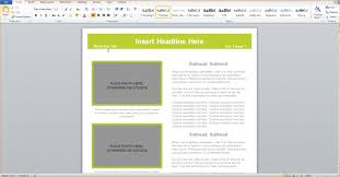 Template 3 Microsoft Word Newsletter Template Outline Templates Free