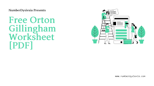 At outside open we love industrial design! Free Printable Orton Gillingham Worksheet With Template Pdf Number Dyslexia