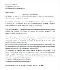 Physician Termination Letters Company Letter Of Employment