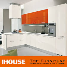 Small Picture Guangdong Prefab Modern High Gloss Orange Colour Kitchen Cabinets