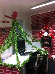 office xmas decoration ideas. christmas work desk pod decorations cards and green paper clips or clothes pins will make this our office tree xmas decoration ideas