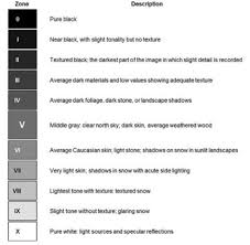 Ansel Adams Zone System Chart How To Get Perfect Exposure Using Spot Metering And The Zone