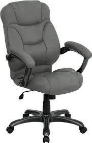 desk chairs fabric. Contemporary Desk Super Soft Gray Microfiber Fabric Executive High Back Office Desk Chairs With R