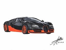 Believing in the impossible is something that bugatti challenges itself to pull off with the release of each and every new car and this one is no exception. Bugatti Veyron Super Sport Amirsalo Dibujos Draw To Drive