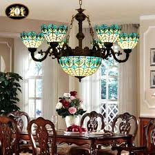 stained glass chandeliers peacock stained glass chandelier pendant vintage bedroom clubhouse restaurant antique chandeliers for