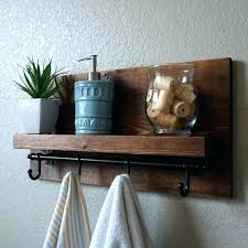 add a shelf with hooks without removing the towel bar outdoor