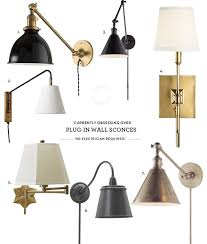 plug in wall lights for bedroom. obsessed with / plug-in wall sconces plug in lights for bedroom