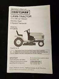 craftsman gt5000 manual off 66