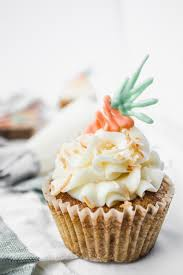 Carrot Cake Cupcakes With A White Chocolate Garnish Flour Floral