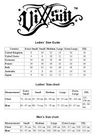 Spin Doctor Size Chart Vixxsin Size Chart