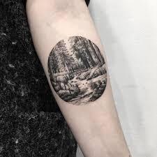 Forest Scenery Tattoo Tattoogridnet