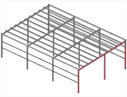 single slope straight column frames multispan
