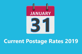 Us First Class Postage Chart 55 True To Life Current Postal Rates Chart 2019