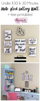 craft room office reveal bydawnnicolecom. Create This Photo Block Gallery Wall For Under $30 In About 30 Minutes! Plus, Craft Room Office Reveal Bydawnnicolecom