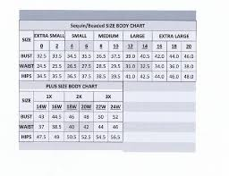 Just My Size Size Chart Just My Size Sizing Requirements Bust Waist Hips Woman Guide For Formal Dress Size Os One Size