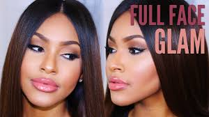 full face makeup routine tutorial for black women