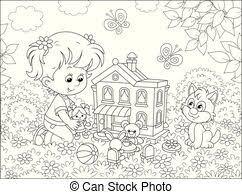 家 人形 おもちゃ イラスト かわいい かわいい おもちゃ