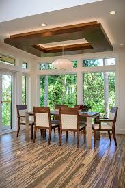 drop ceiling lighting ideas dining room contemporary with bamboo flooring ceiling cove beeyoutifullife com
