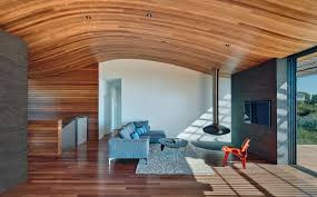 curved wood ceiling.  Curved The Ceiling In This Modern House Echoes Shape Of Hillside It Sits  On   With Curved Wood Contemporist
