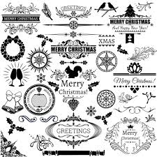 Christmas Labels On A White Background Vector Free Download