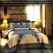 primitive bedding sets quilts quilt blue and brown star set king size country charm navy tan primitive bedding sets