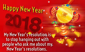 cute humorous card new year resolution 2018