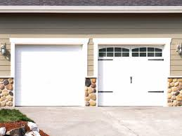 Single Garage Doors Windows With Blue House Project For Impressive Ideas